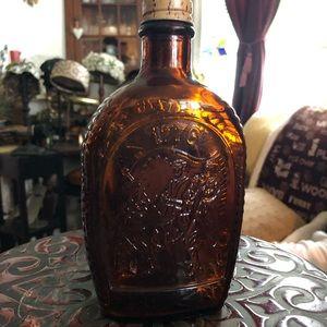Vintage Log Cabin Syrup Bicentennial Glass Bottle